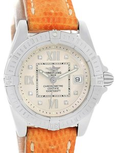 Breitling Breitling Windrider Cockpit Diamond Dial Brown Strap Ladies Watch A71