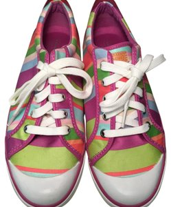 Coach Canvas Leather MULTI COLOR Athletic