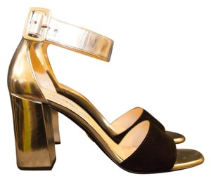 Prada Strappy Metallic Sandals