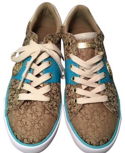 Guess Signature Jacquard TAN GOLD TURQUOISE Athletic