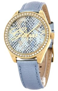 Guess W0612L1 Who Women's Blue Leather Bracelet With Blue Analog Dial
