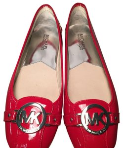 Michael Kors Leather Patent Leather RED Flats