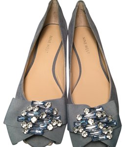Nine West Studded Leather LIGHT BLUE Flats