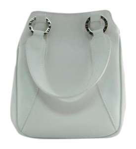 BVLGARI Leather Small Like New Tote in White