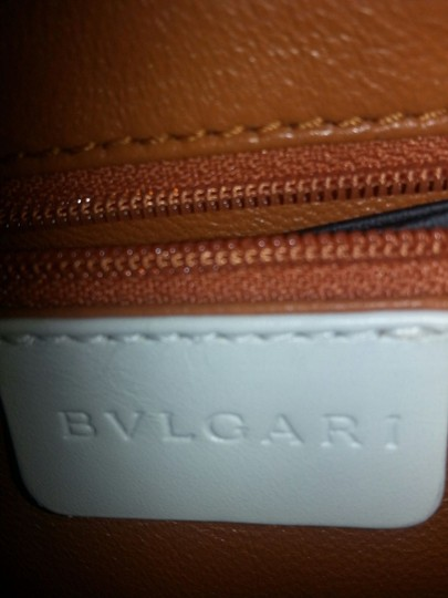 BVLGARI Leather Small Like New Hand Tote in White