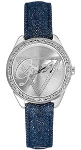 Guess W0456L1 Little Flirt Women Blue Fabric Bracelet With Silver Dial