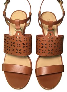 Michael Kors Leather TAN LUGGAGE Wedges