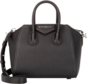 Givenchy Mini Antigona Sugar Antigona Navy Satchel in black