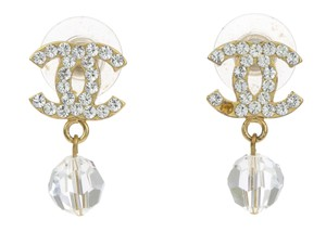 Chanel Chanel 07 P Gold CC Logo Boucles Earrings