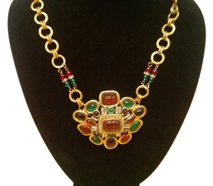 Chanel Vintage Chanel Multi-Color Medallion Necklace