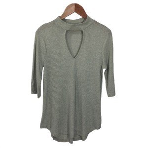 JUNE & HUDSON Knit Cut-out Spring Summer Top GREY