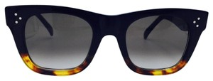 Cline Black and Tortoise Square Celine Sunglasses CL 41089/S FU5Z3 47