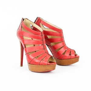 Christian Louboutin Leather Platform red Sandals
