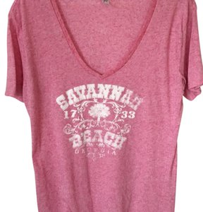 salt creek T Shirt Pink with white lettering