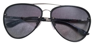 Tod's Tod's Sunglasses Aviator Crossbar Leather Braided Sides TO 130 01B