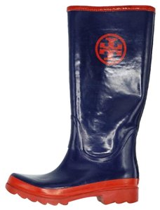 Tory Burch Blue, Red Boots