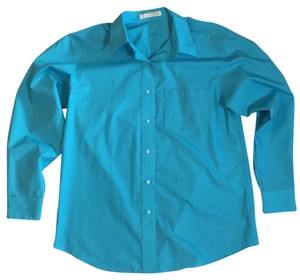 Foxcroft Button Down Shirt turquoise