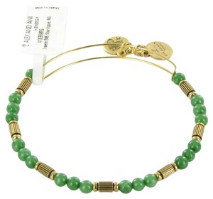 Alex and Ani Traveler Sour Apple Beaded Expandable EWB Bracelet Russian Gold