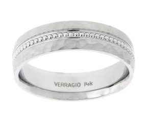 Verragio Mv-6n02hm In 14k White Gold Men's Wedding Band