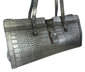 Kenneth Cole Satchel in Silver