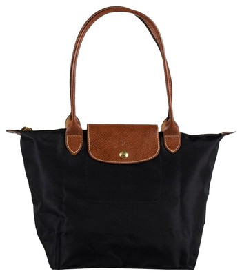 Longchamp Nylon/leather Tote in Black