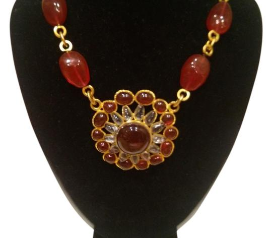 Preload https://item2.tradesy.com/images/chanel-red-gold-vintage-and-necklace-2102146-0-0.jpg?width=440&height=440