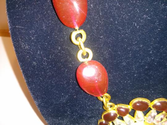 Chanel Chanel Vintage Gold and Red Necklace