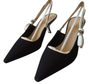 Dior J'ador Slingback Fabric black Pumps