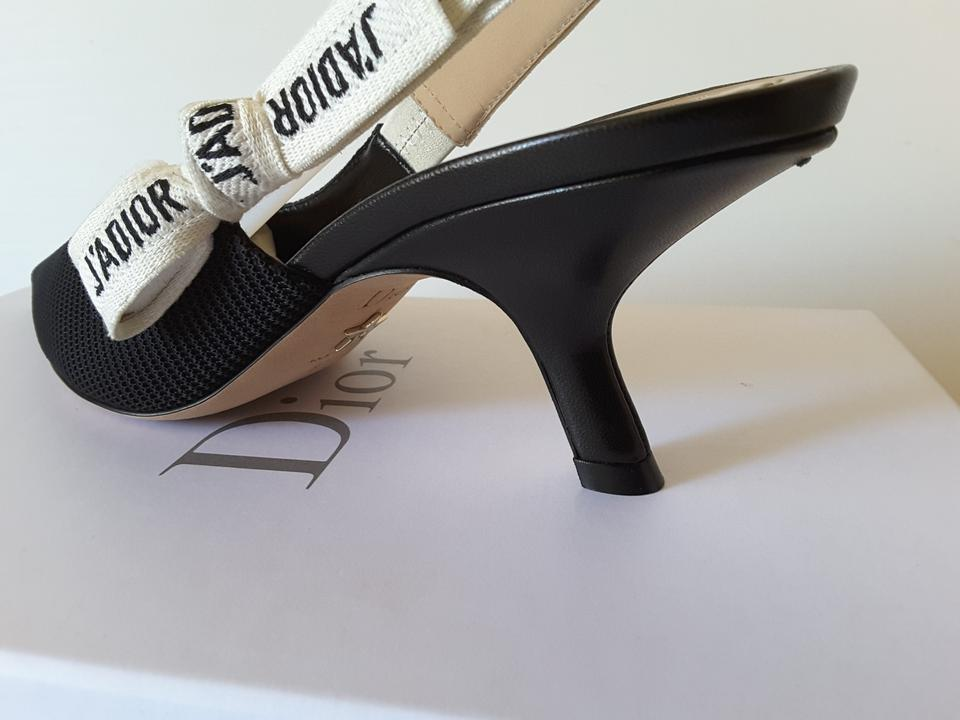 Slingback Black amp; Dior Ribbon Fabric 39 Pumps 5 IzwCTnq