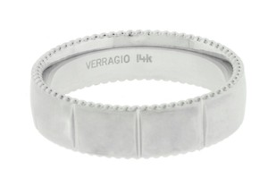 Verragio Verragio Mv-6n10 Men's Wedding Band In 14k White Gold