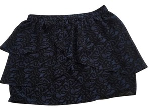 Silence + Noise Skirt Black and Blue