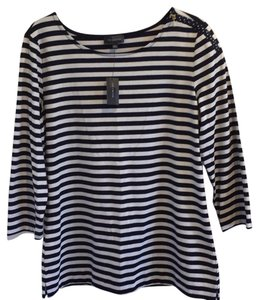 The Limited Striped Pet And Smoke Free Nautical Top Navy/White