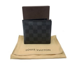 Louis Vuitton Louis Vuitton Signature Damier Graphite Bifold Travel Wallet Mens