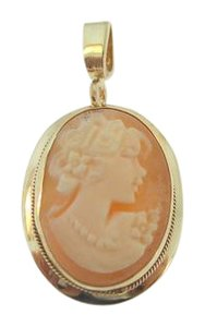 Other Antique Art Deco Carved Shell Cameo Pendant - Vintage 1930s