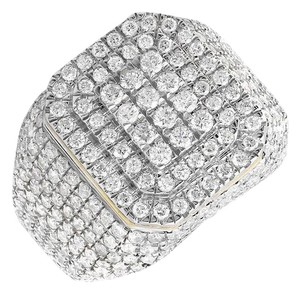 Jewelry Unlimited 14K Yellow Gold Layer Wide Diamond Pinky Ring 3.60ct.
