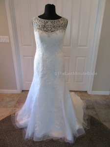 Casablanca Ivory Lace 2217 Feminine Wedding Dress Size 18 (XL, Plus 0x)