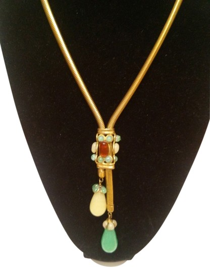 Preload https://item1.tradesy.com/images/chanel-green-and-multi-color-vintage-long-necklace-2102205-0-0.jpg?width=440&height=440
