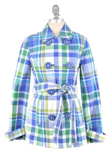 Boden Plaid Longsleeve Trench Coat