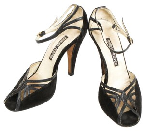 Andrea Pfister Couture Vintage Suede Leather black Sandals