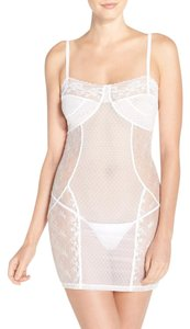 Samantha Chang NWT SAMANTHA CHANG Filigree Chemise Teddy Slip, White, M, Lace Bridal