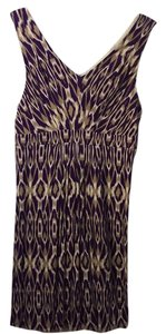 Ann Taylor LOFT short dress purple / tan / white on Tradesy
