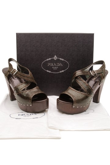 Prada Militaire (Olive Green) Sandals Image 9