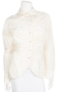 Michael Casey Couture Button Down Shirt pearl