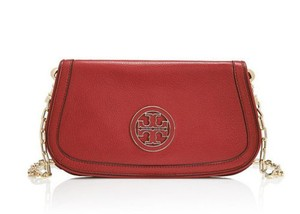 Tory Burch Clutch Logo Amanda Red Cross Body Bag