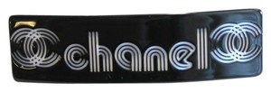 Chanel VIP Black CC Hair Barrette