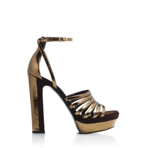 Tamara Mellon Bronze/TDM Sandals