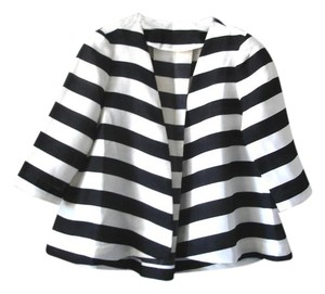 Other Flowy Swing Spring Striped Hi-low black and white Jacket