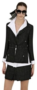 Chanel CHANEL S/S 2007 CLASSIC 3 PIECE SKIRT JACKET TOP VEST FRAYED 40 4