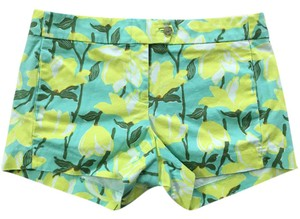 J.Crew Mini/Short Shorts Green/Yellow/White