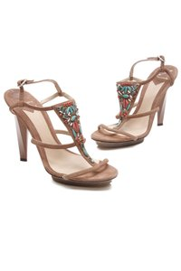 Brian Atwood Brown, multicolor Sandals